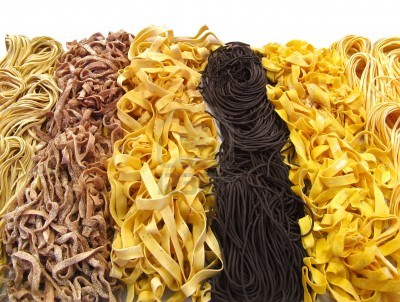 Assorted dried pasta