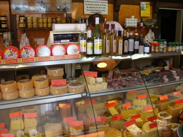 Cheeses in st gallen, Switzerland