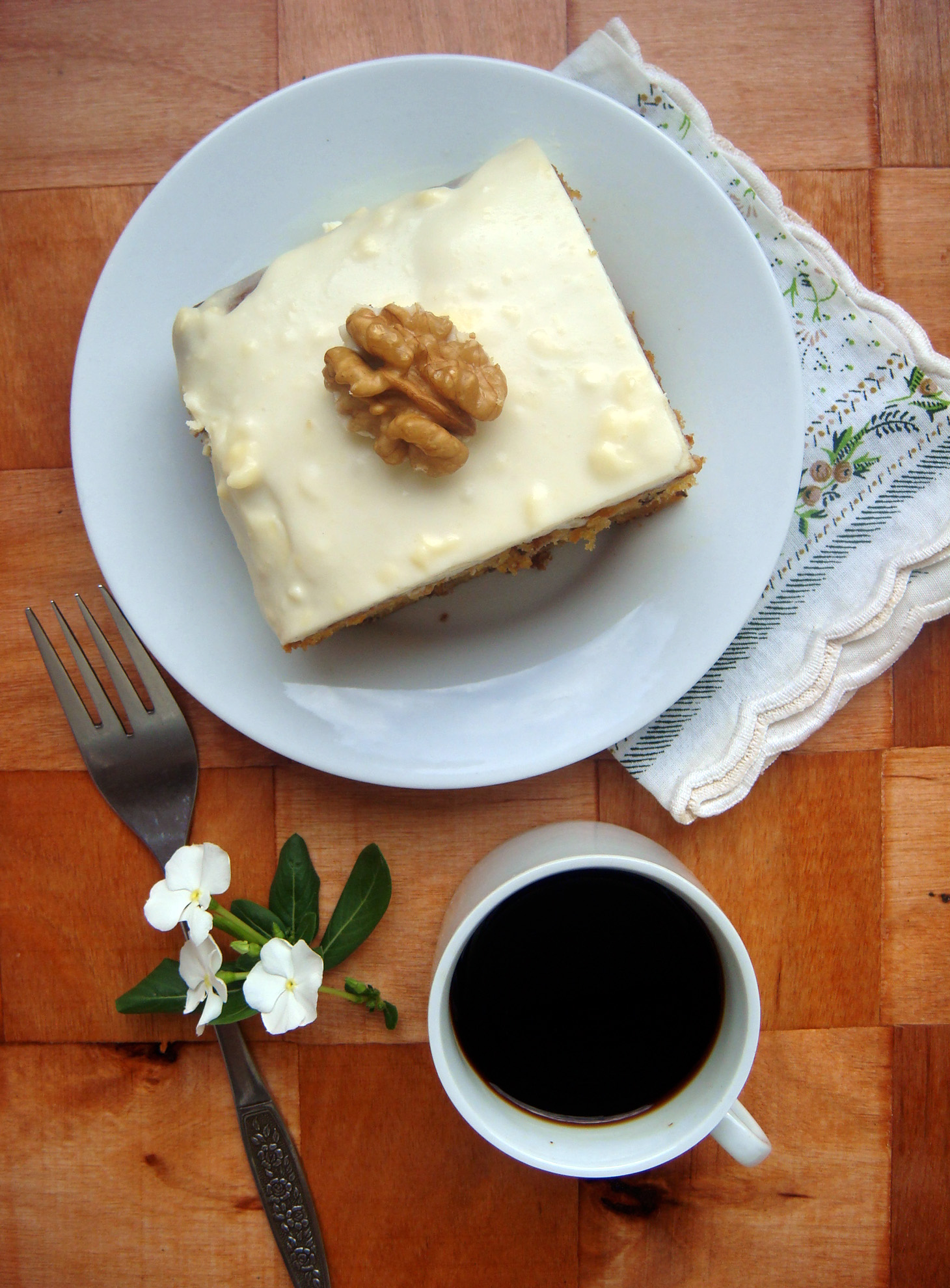 Classic Carrot Cake with Cream Cheese Frosting..