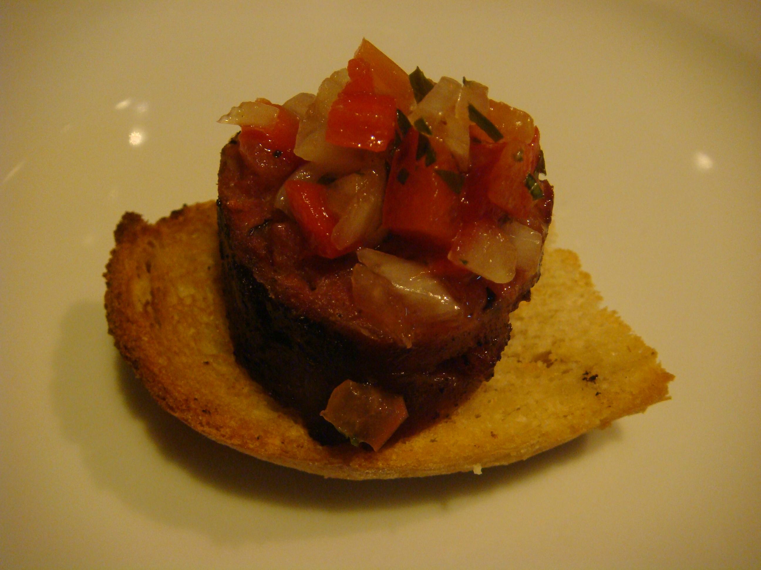 Chorizo crostini