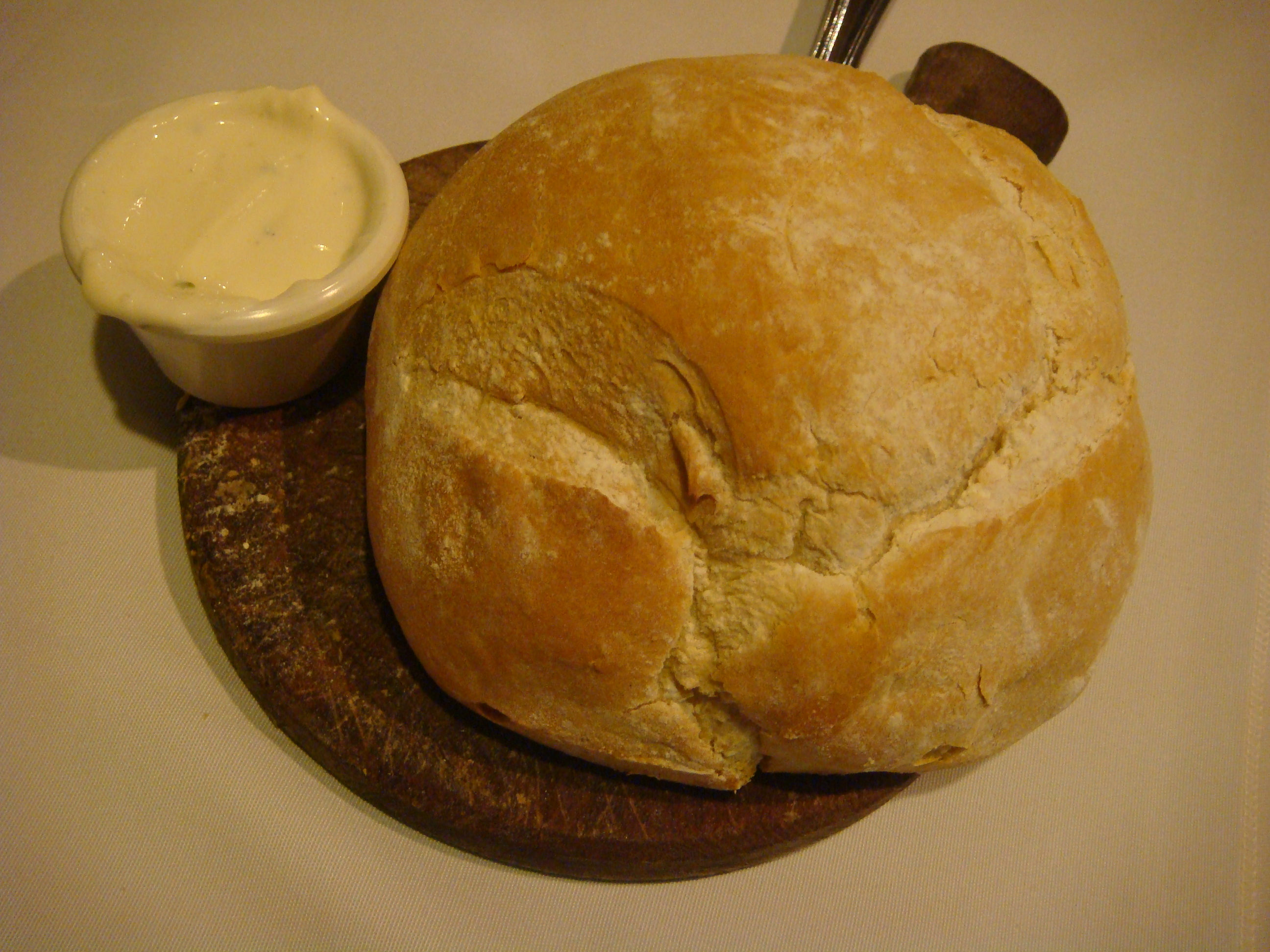 Freshly-baked homemade bread