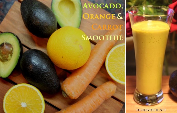 Avocado, Orange & Carrot Smoothie2
