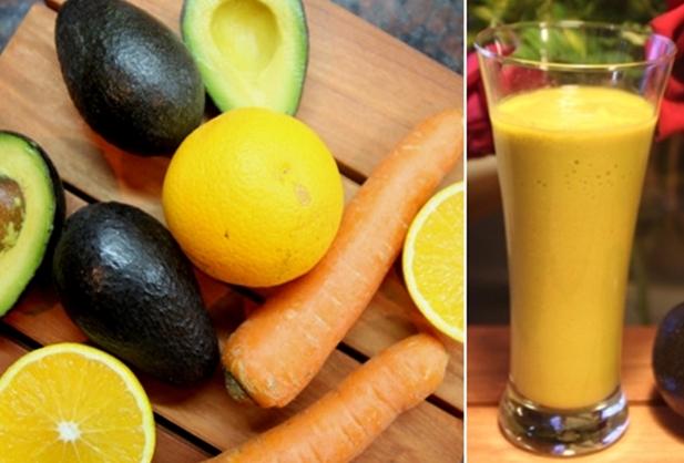 Avocado, oranges & carrots smoothie3