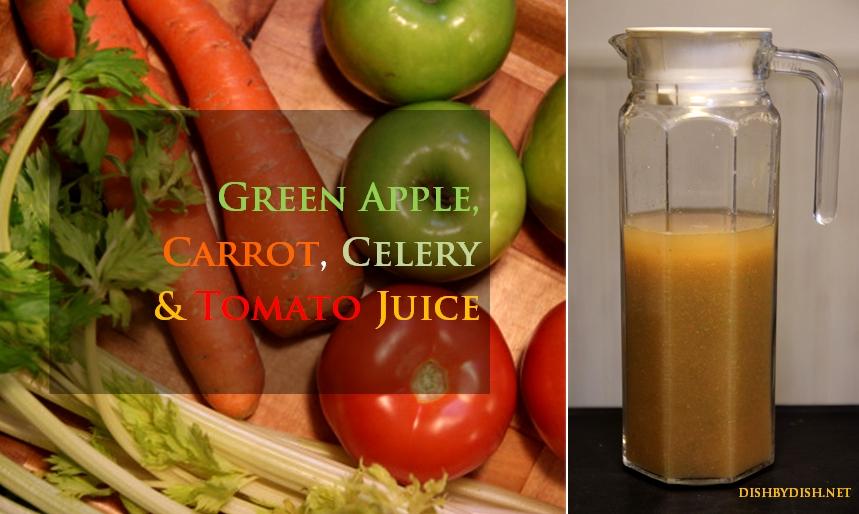 Green Apple, Carrot, Celery & Tomato Juice