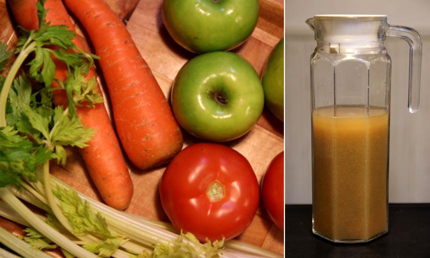Green Apple, Carrot, Celery & Tomato Juice1