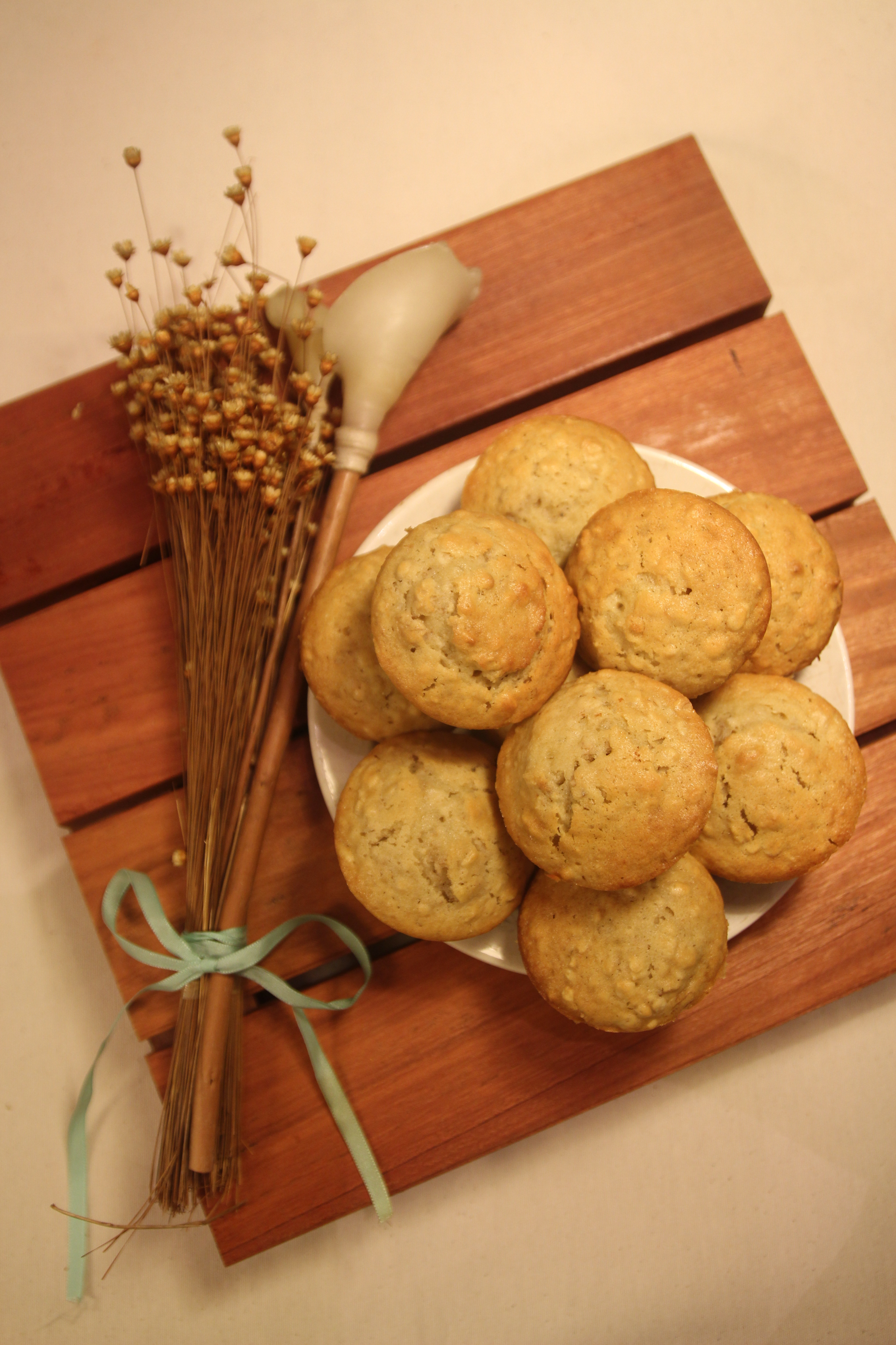 Honey Oat Walnut Muffins