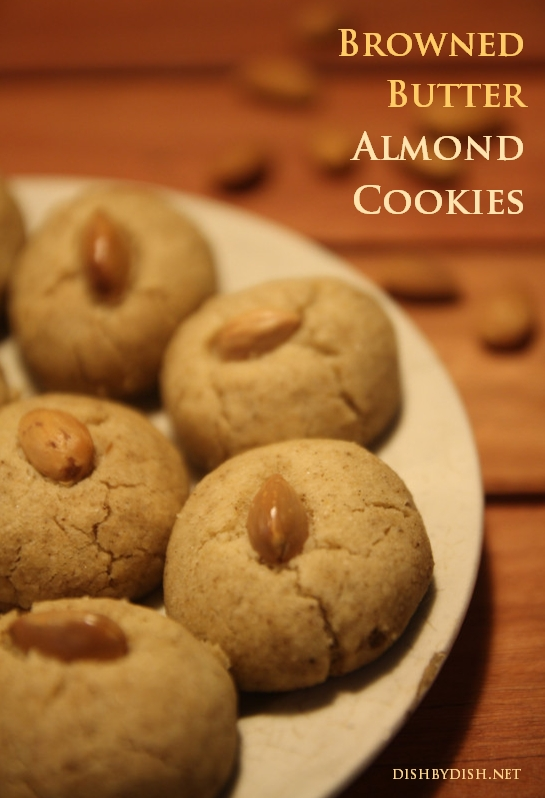 Browned Butter Almond Cookies
