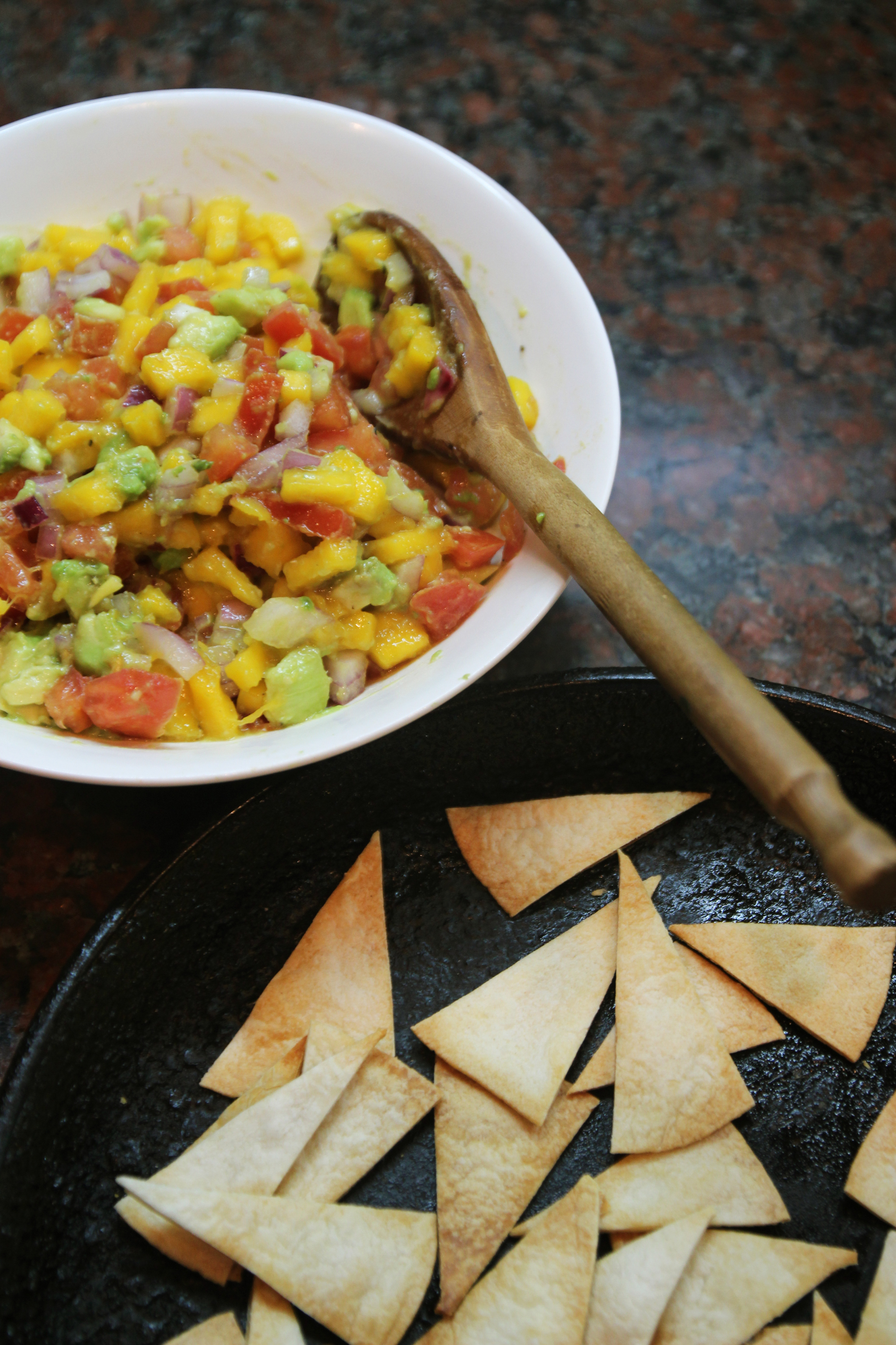 Mango Avocado Salsa & Homemade Tortilla Chips13