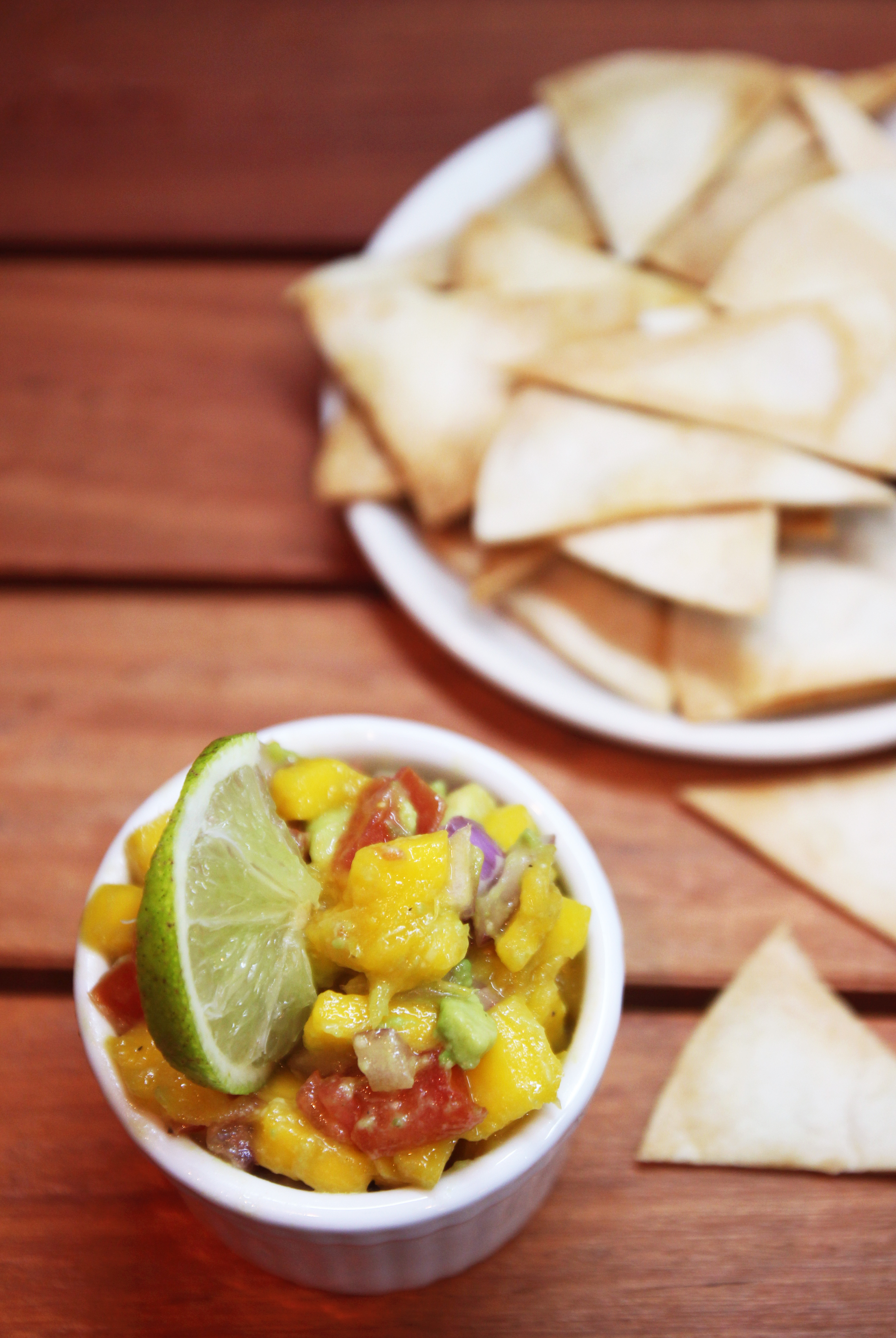 Mango Avocado Salsa & Homemade Tortilla Chips21
