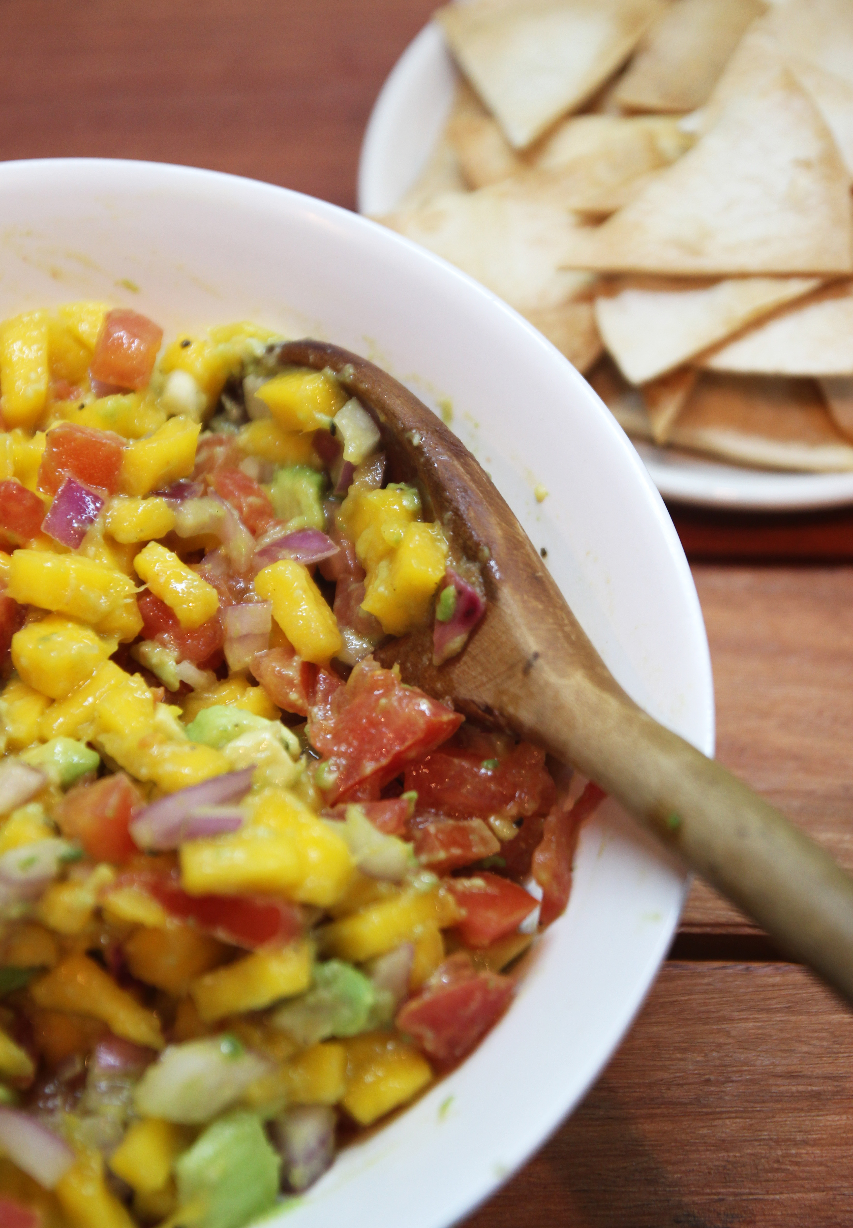 Mango Avocado Salsa & Homemade Tortilla Chips22
