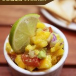 Mango Avocado Salsa & Homemade Tortilla Chips