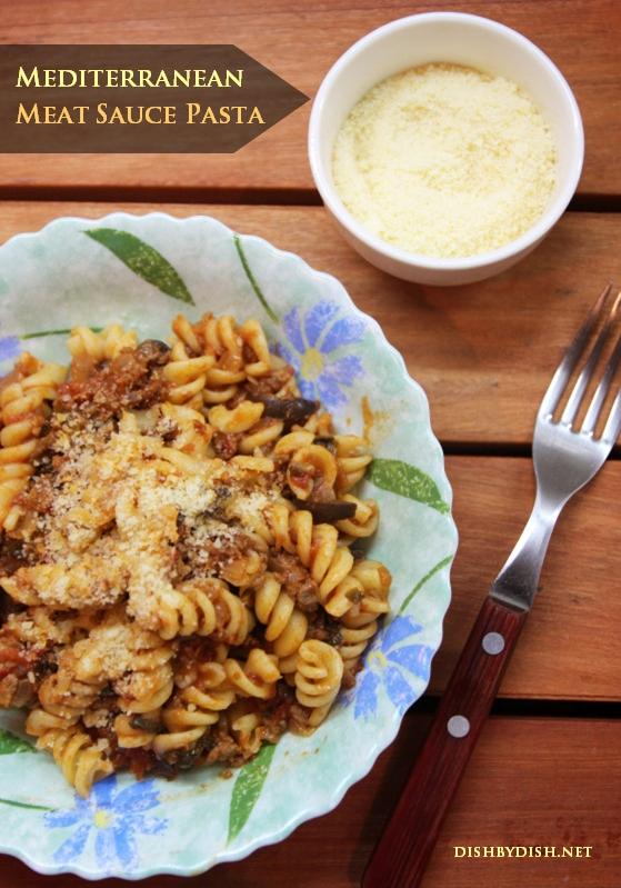 Mediterranean Meat Sauce Pasta