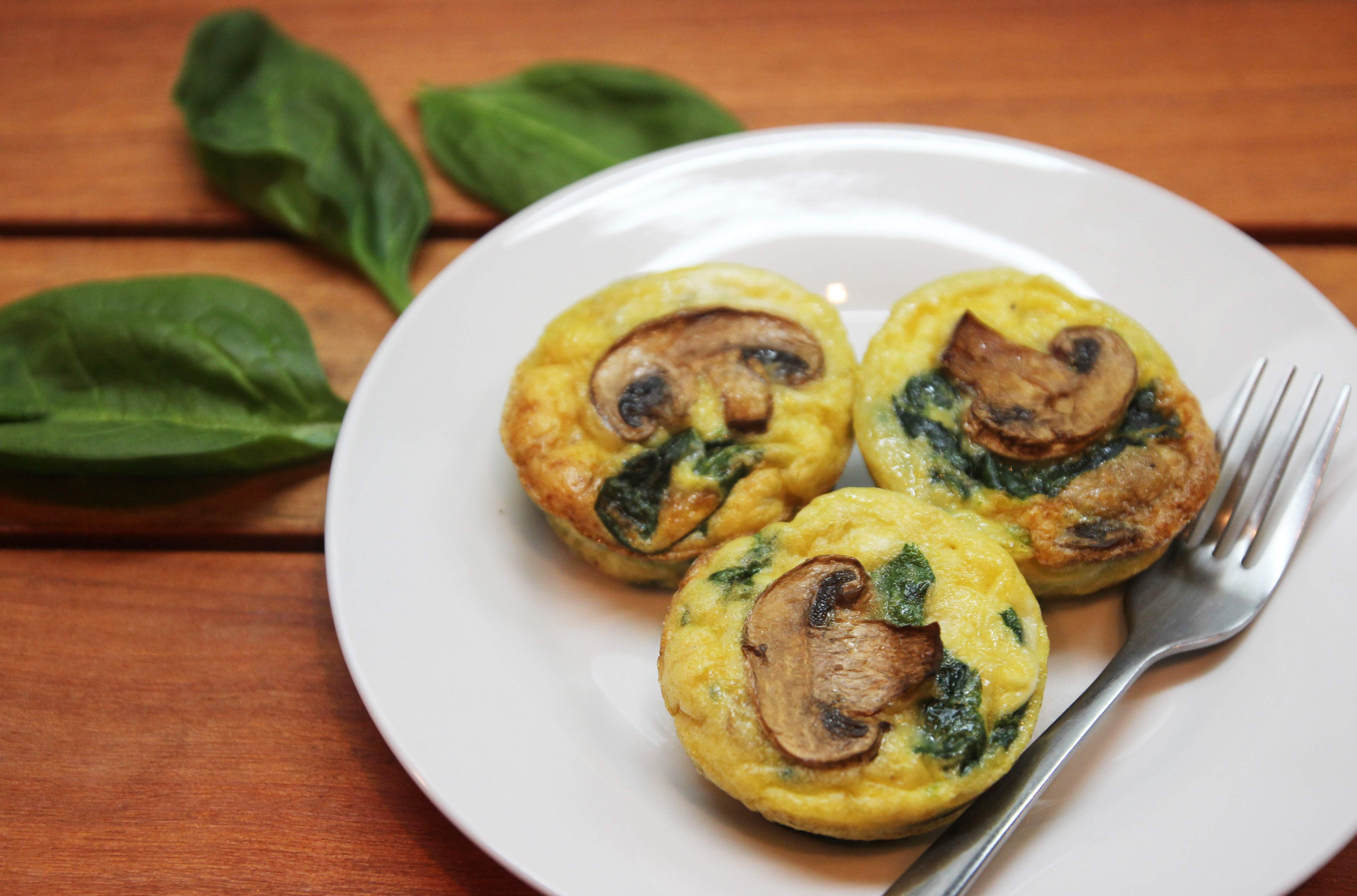 Mushroom Spinach Quiche Cups12