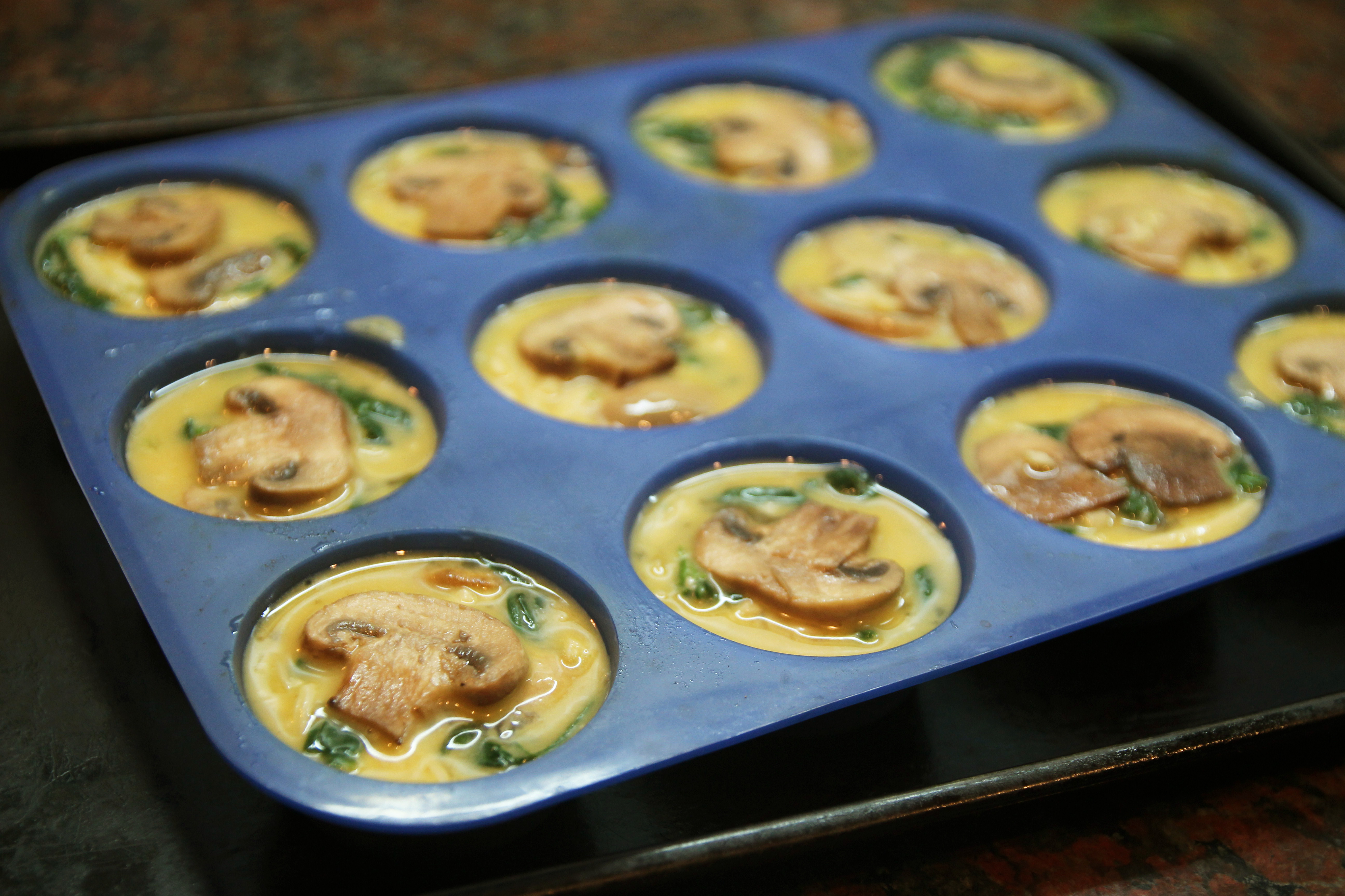 Mushroom Spinach Quiche Cups3