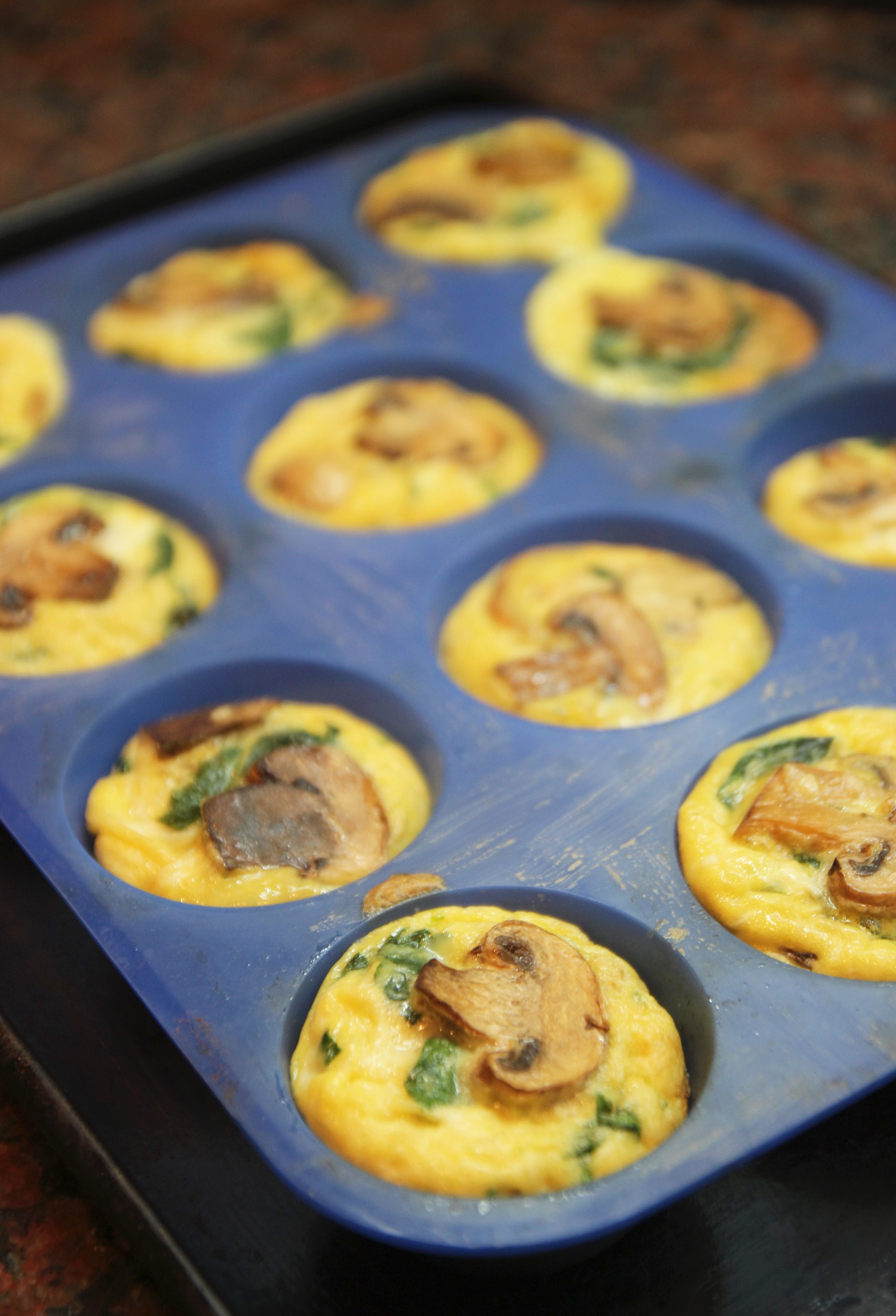 Mushroom Spinach Quiche Cups4