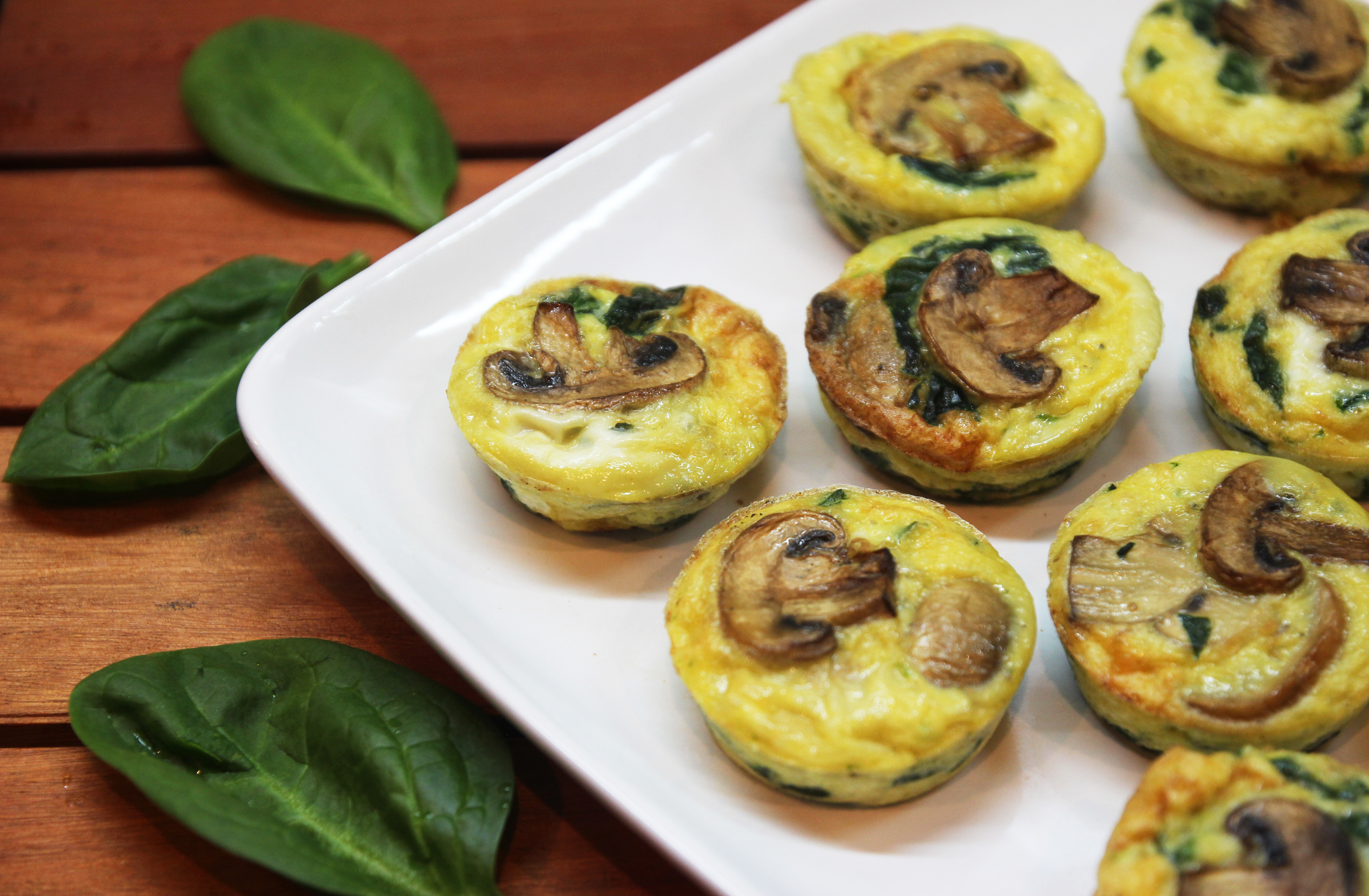 Mushroom Spinach Quiche Cups6