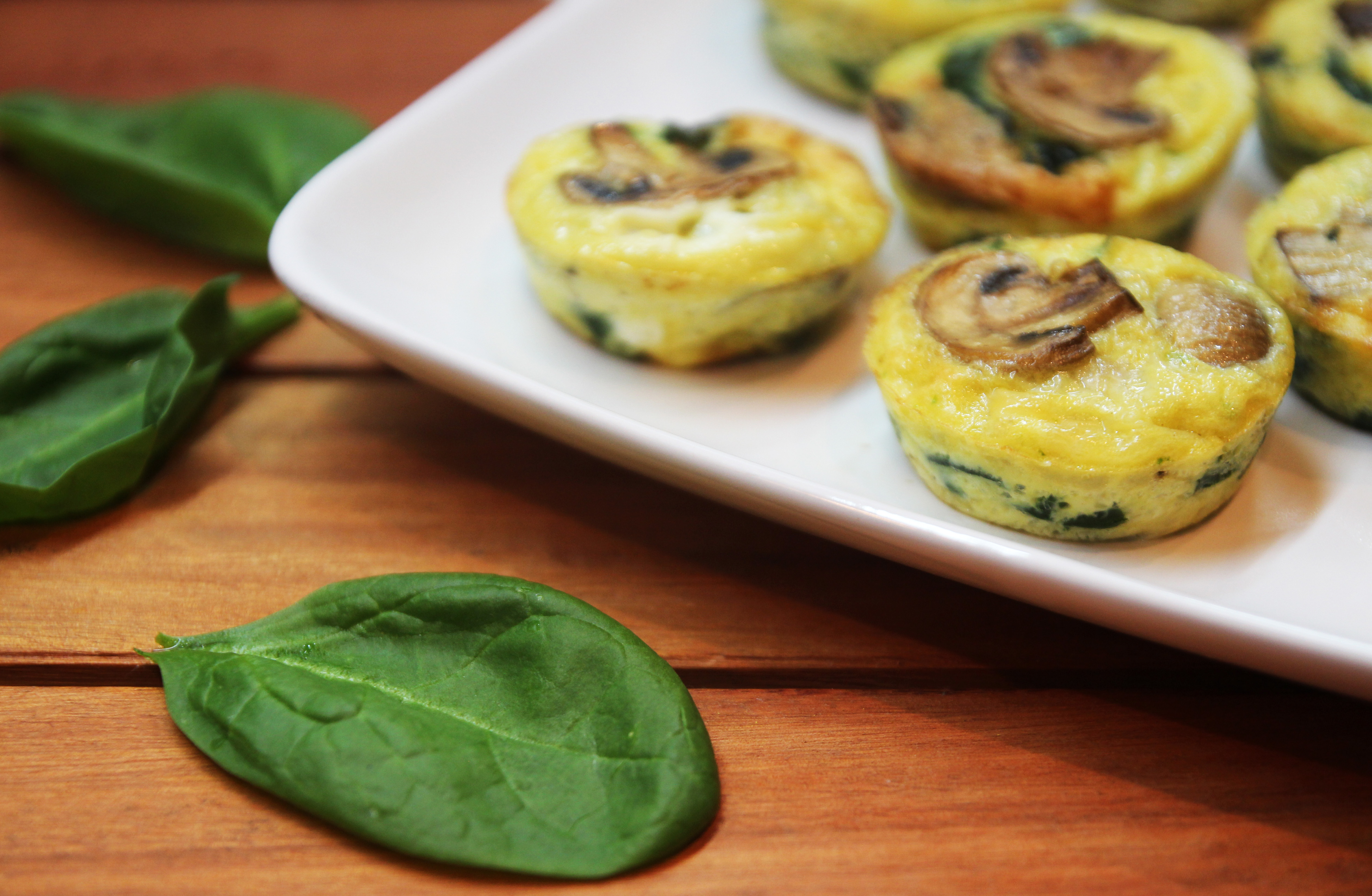 Mushroom Spinach Quiche Cups9