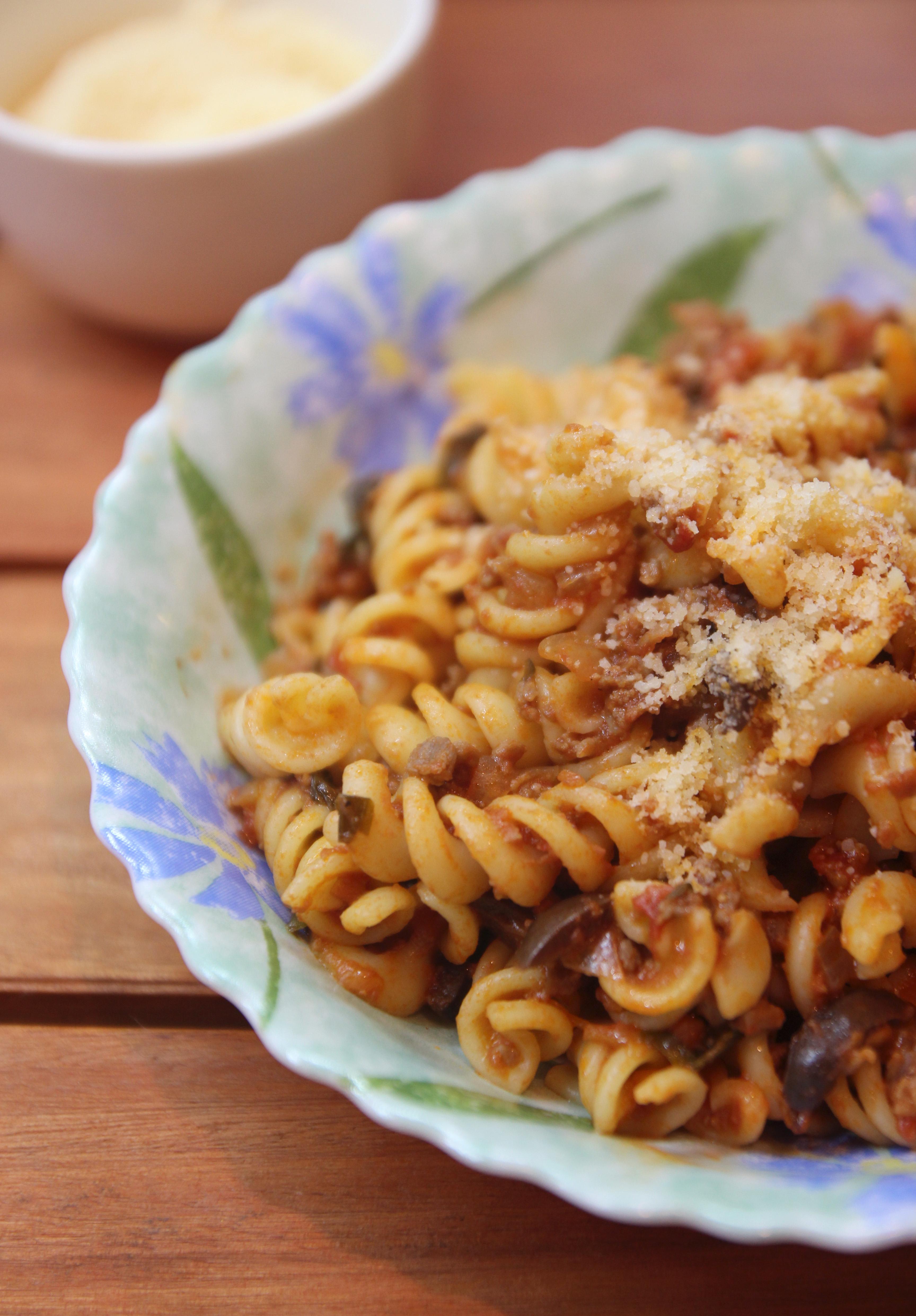 Spiral Pasta with Mediterranean Meat Sauce7