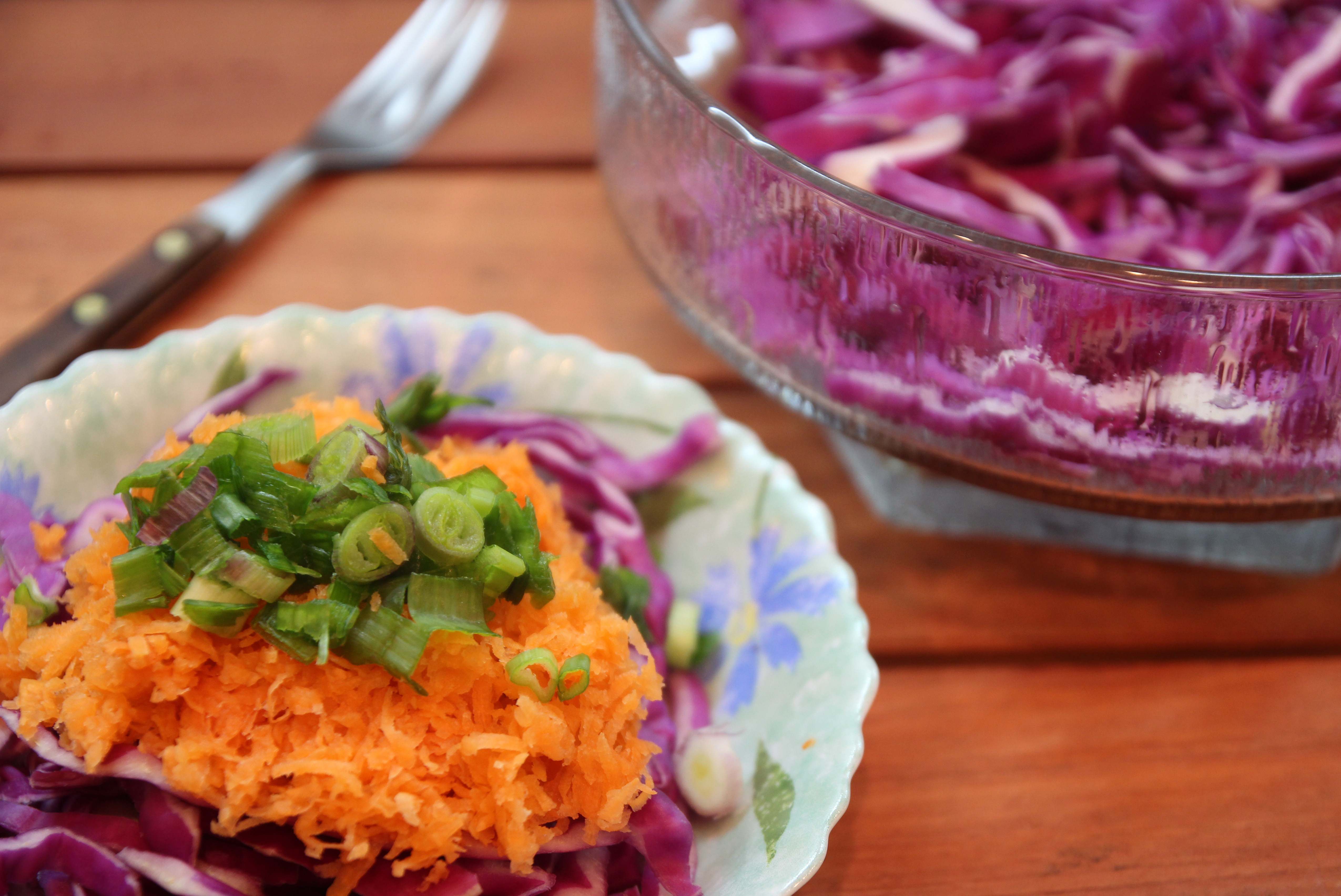 Spring Onion, Red Cabbage & Carrot Salad6