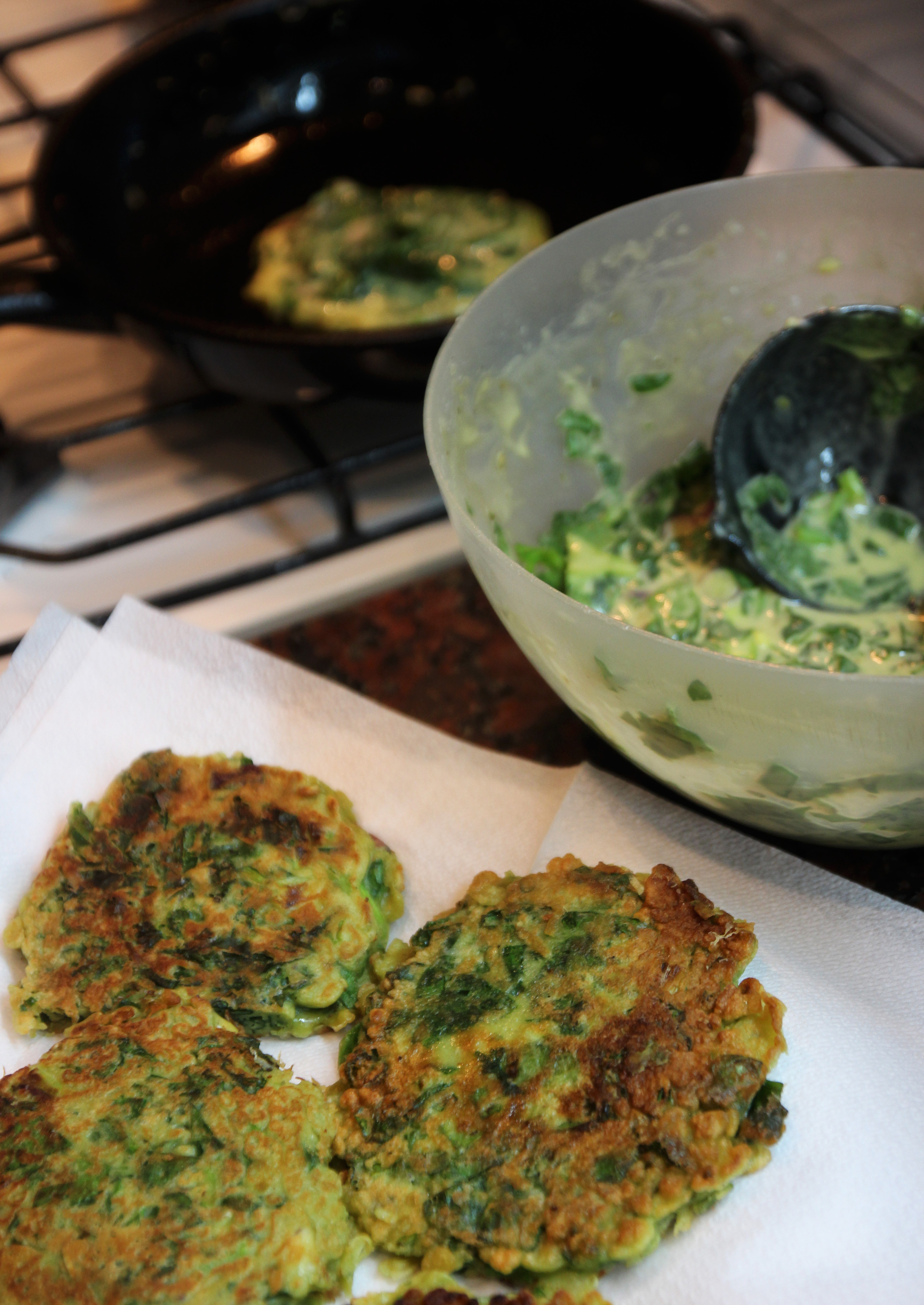 Spring Onion & Spinach Pancakes11