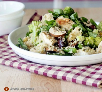 Basil Lemon and Chicken Quinoa Salad