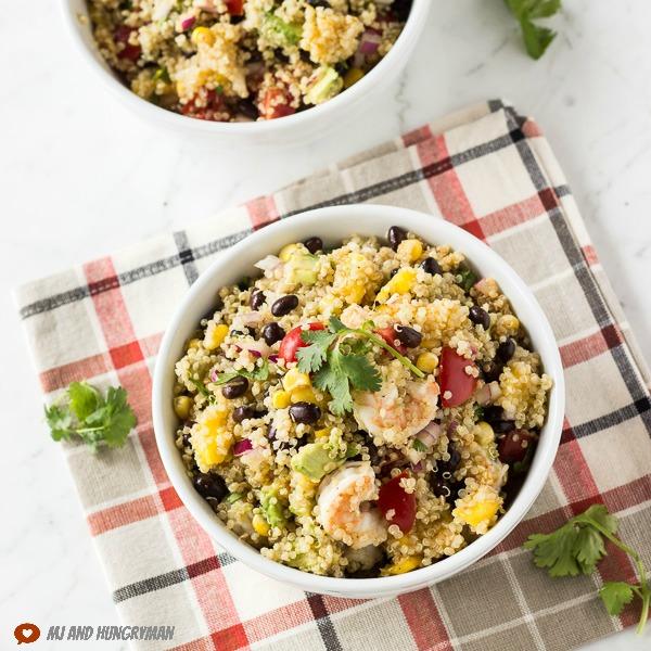 Mango Quinoa Salad w/ Shrimp