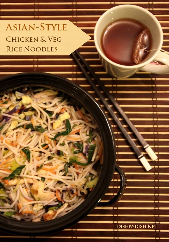 Asian-Style Chicken & Veg Rice Noodles