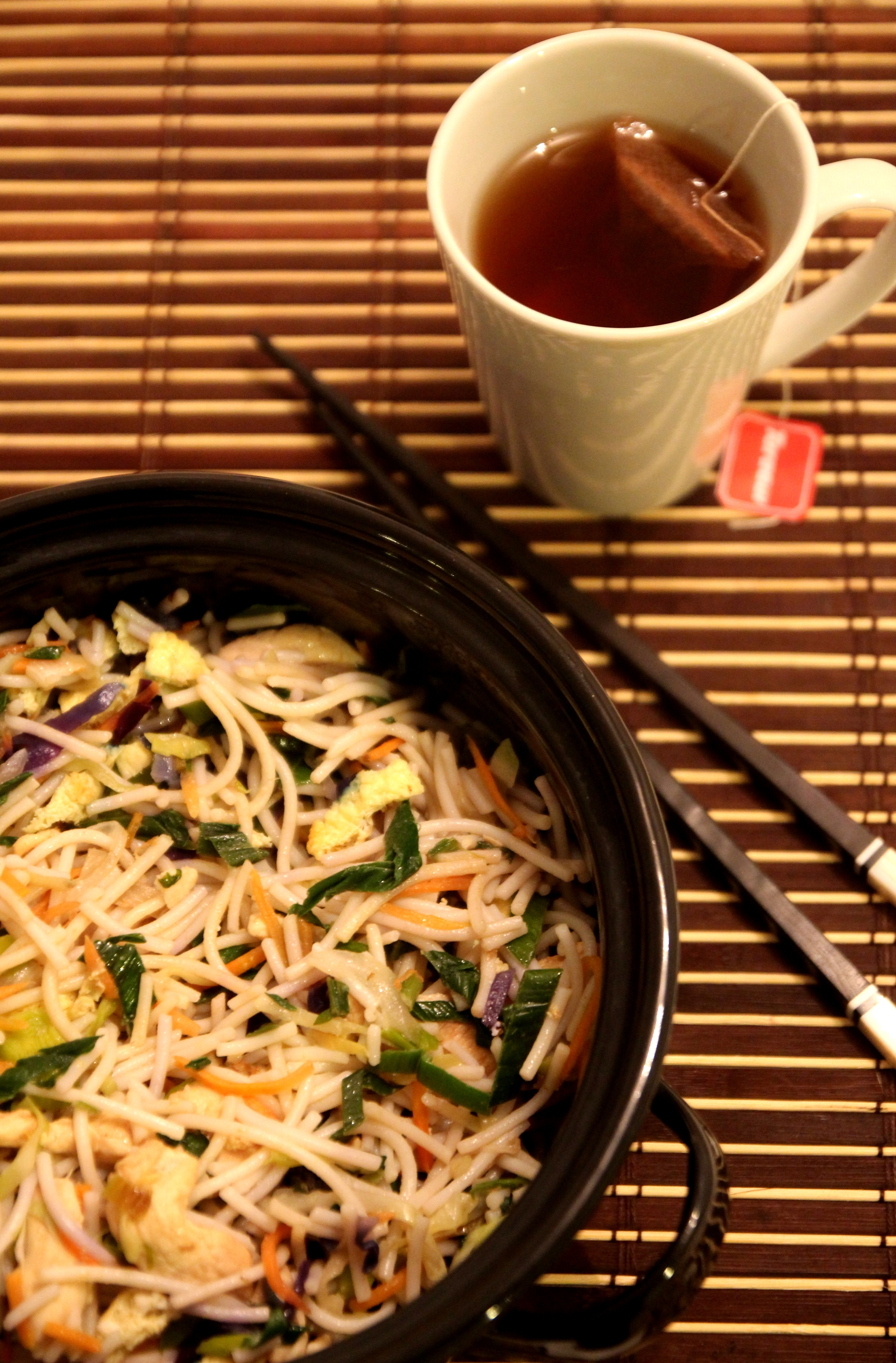 Asian-Style Chicken & Vegetable Rice Noodles12