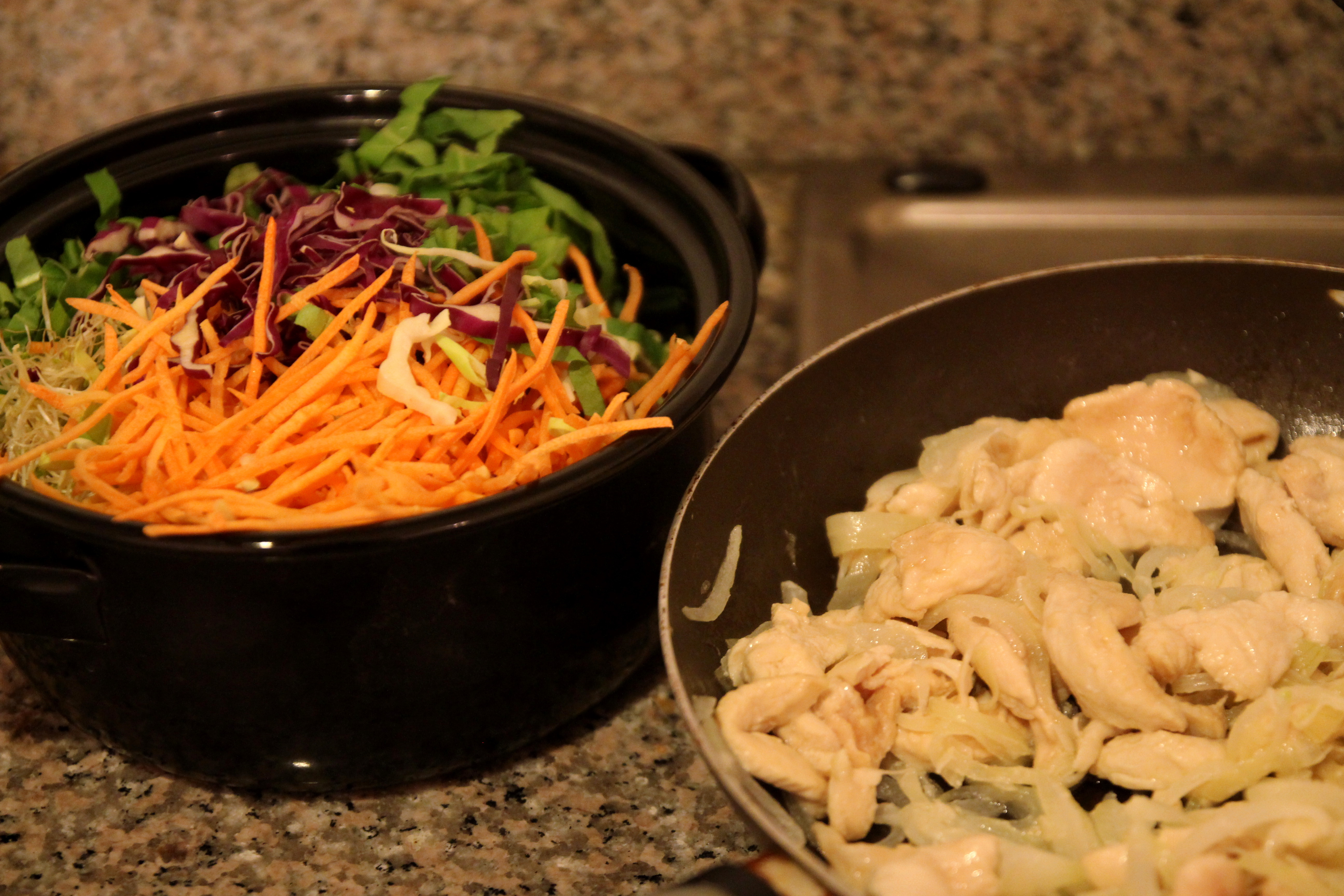 Asian-Style Chicken & Vegetable Rice Noodles4
