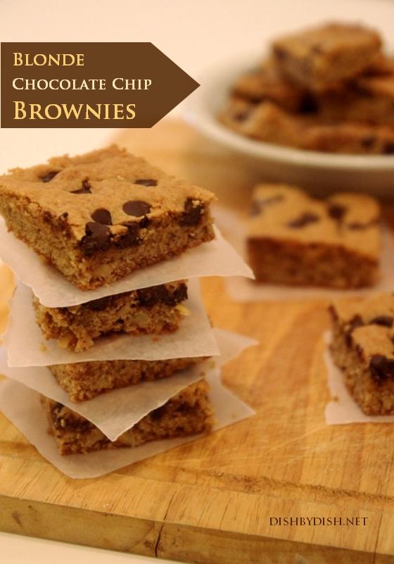 Blonde Chocolate Chip Brownies