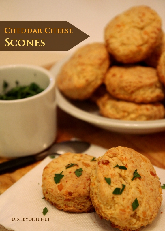Cheddar Cheese Scones + Yes, I'd do it all over again - Dish by Dish