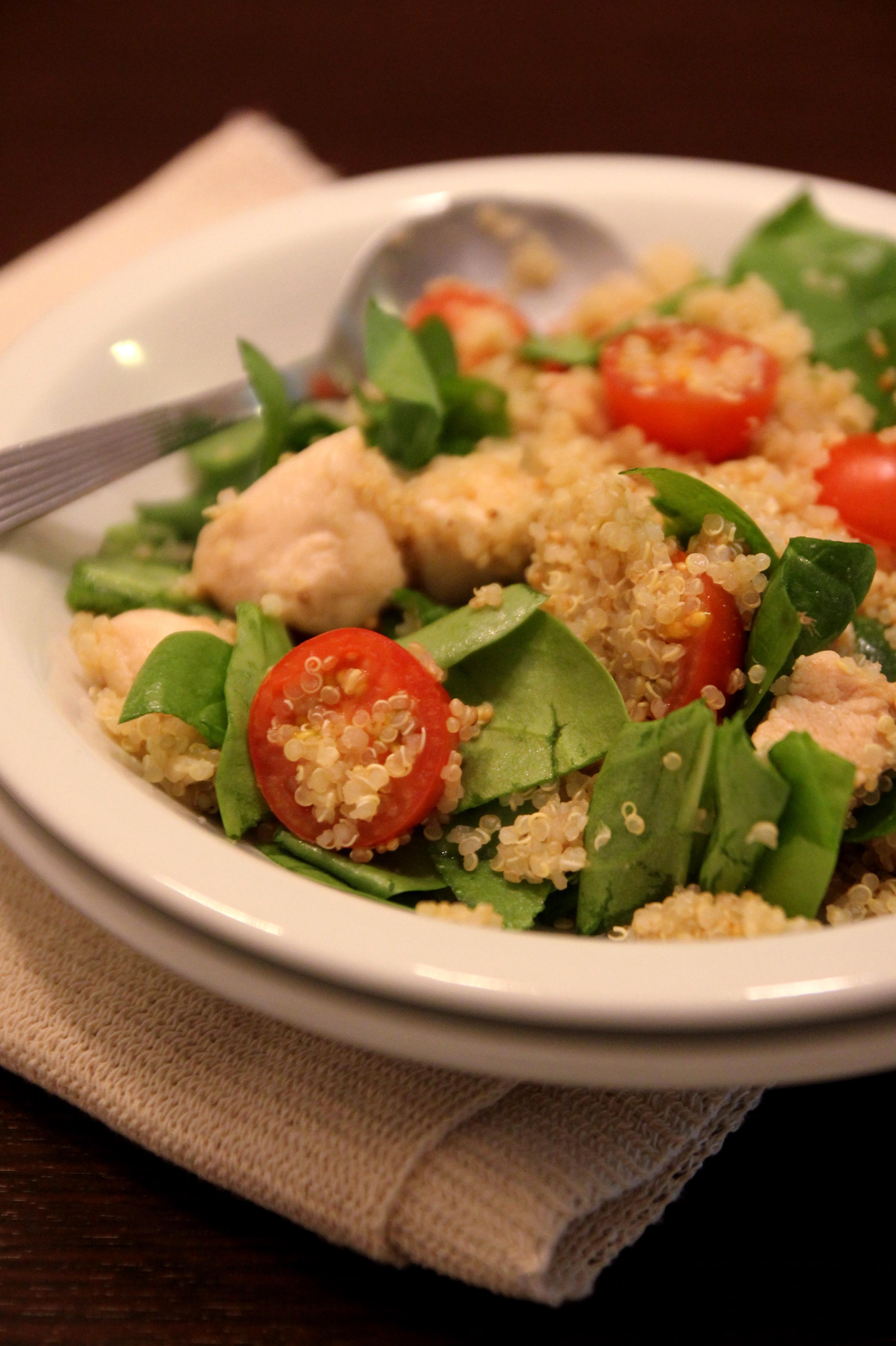 Chicken Quinoa Salad with Tomato & Spinach4