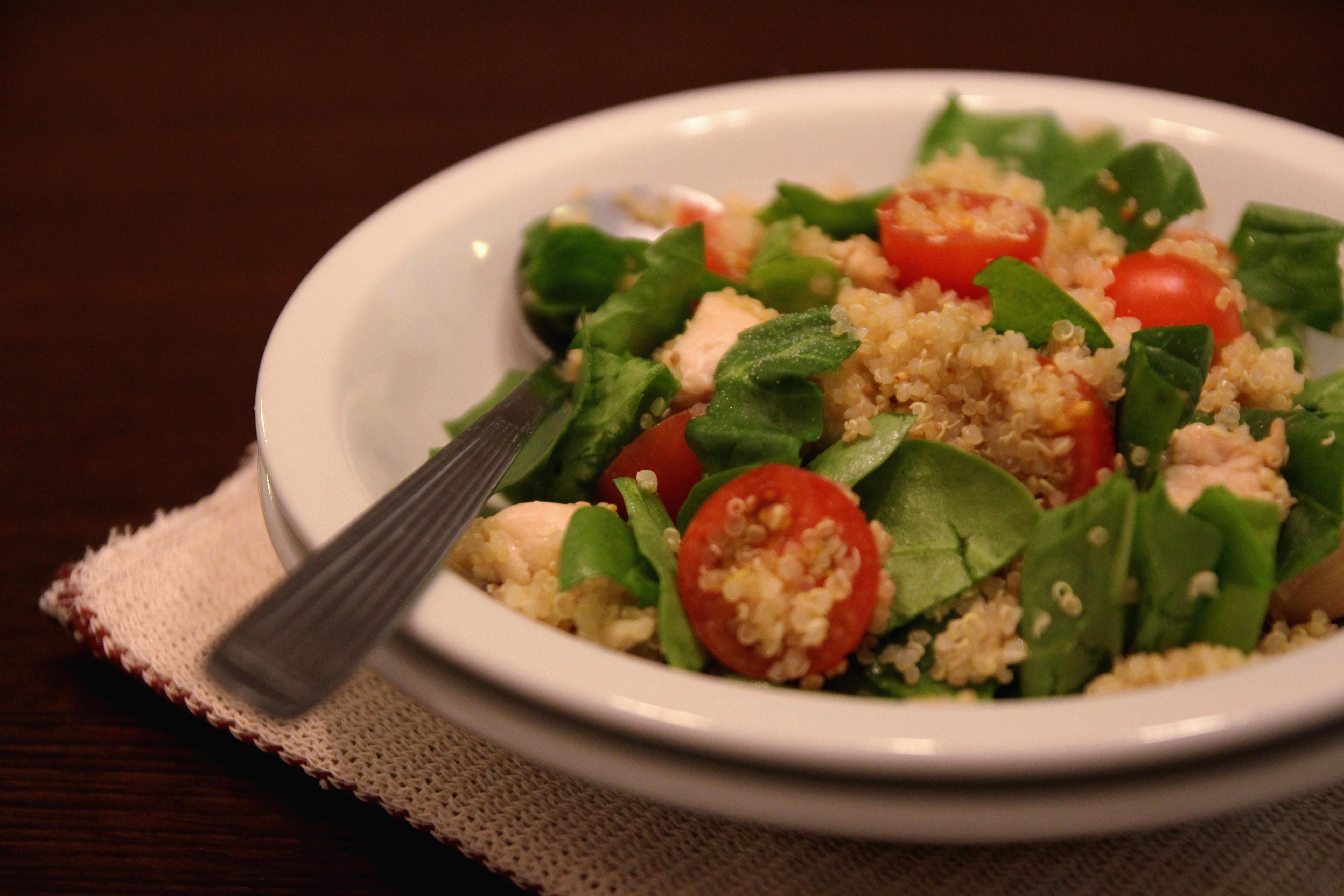 Chicken Quinoa Salad with Tomato & Spinach5