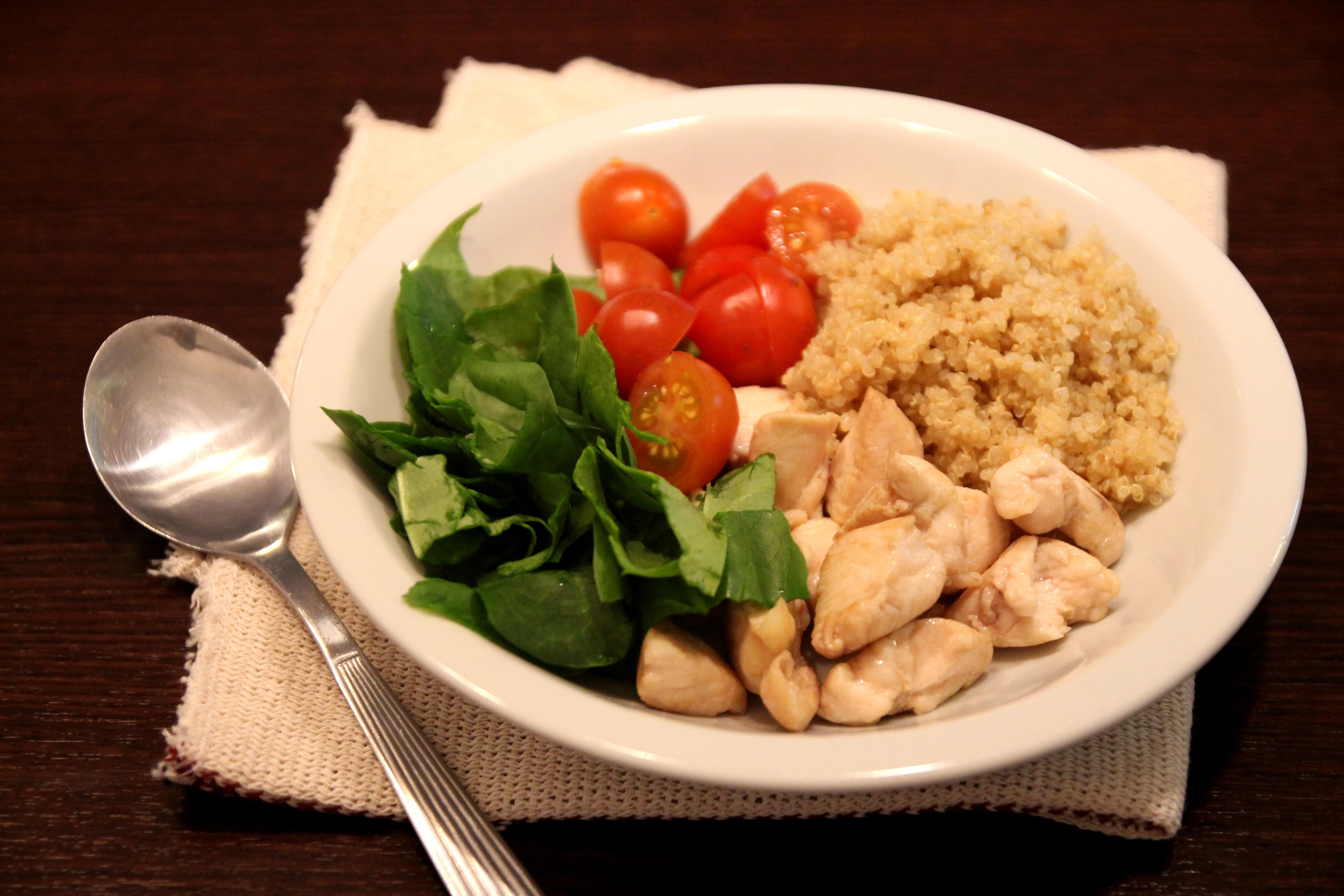 Chicken Quinoa Salad with Tomato & Spinach6