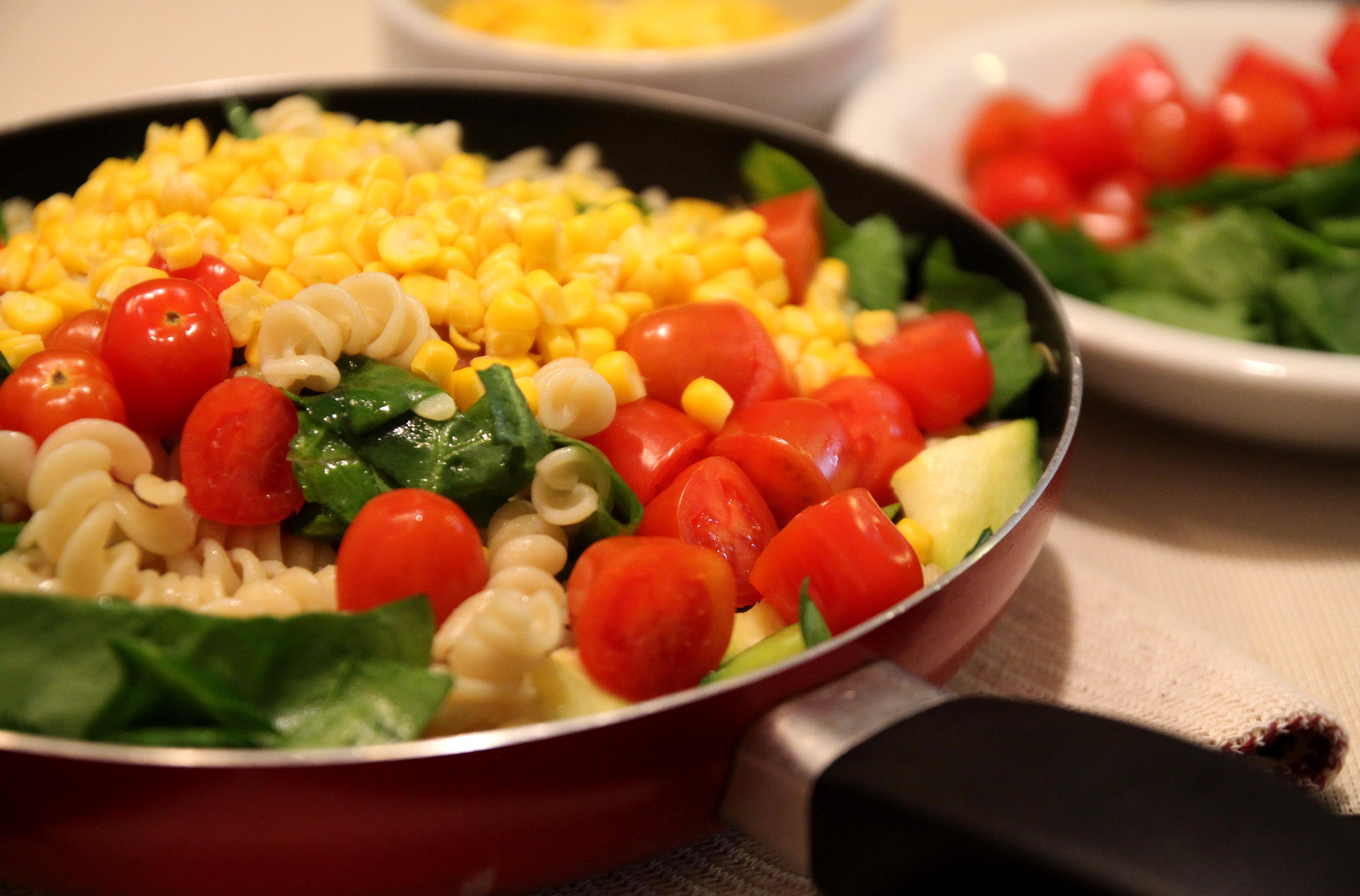 Colorful Vegetable Pasta Salad10
