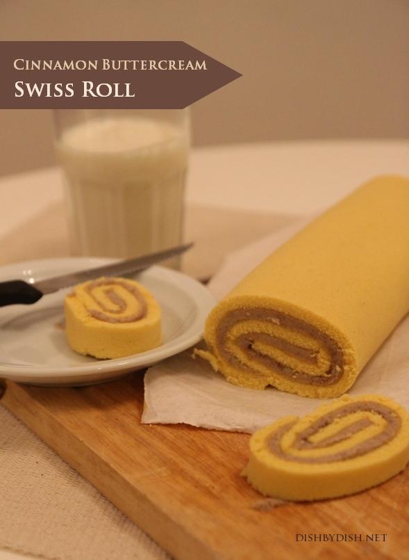 Cinnamon Buttercream Swiss Roll