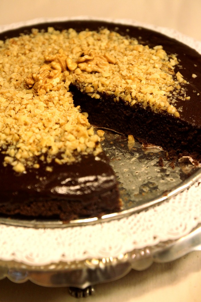 Chocolate Quinoa Cake with Glaze & Walnuts11