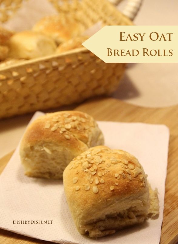 Easy Oat Bread Rolls