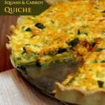 Squash & Carrot Quiche