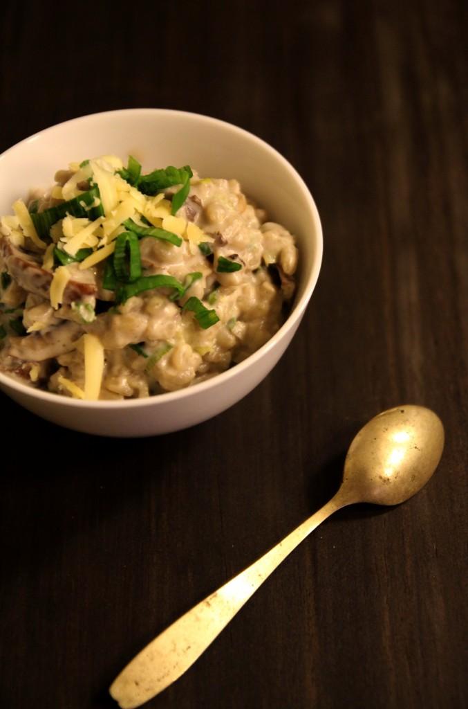 Warm Barley with Mushroom & Spring Onion Sauce3