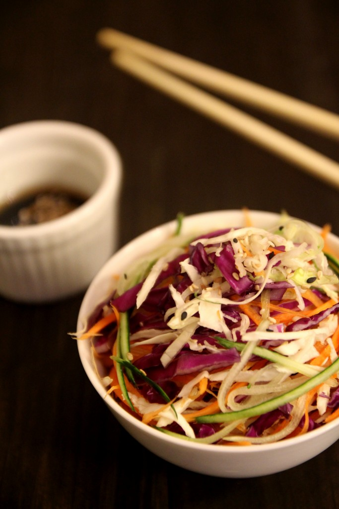 Asian Slaw with Sesame Soy Dressing
