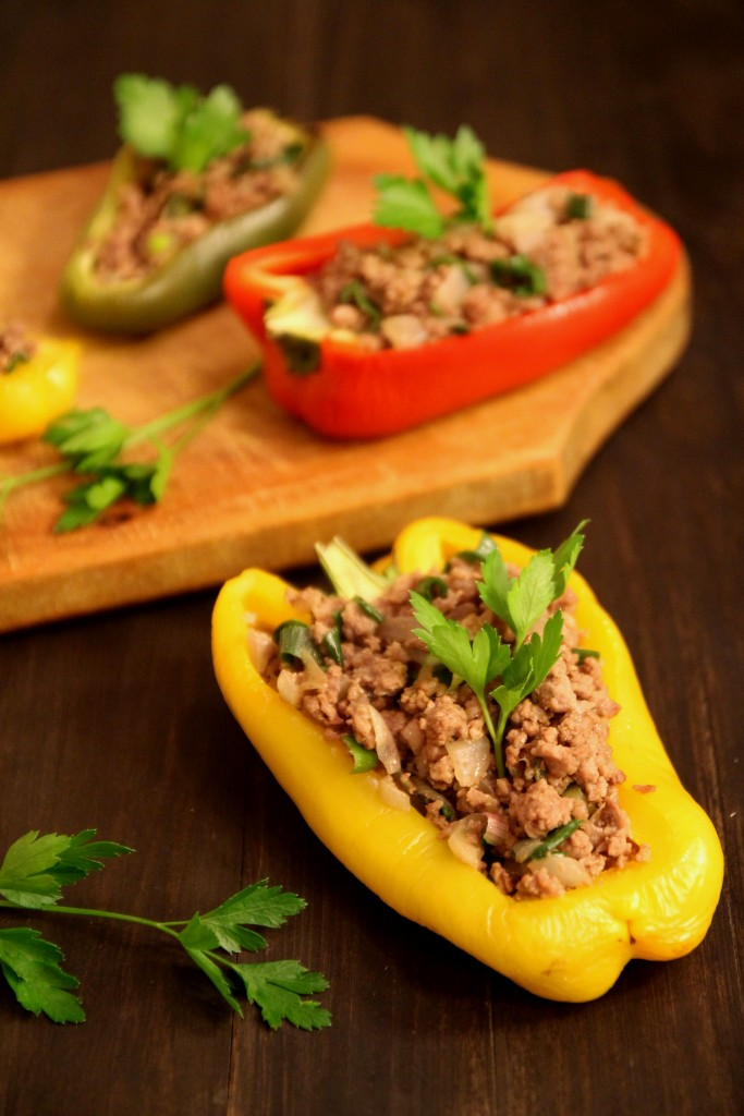 Beef & Onion Stuffed Peppers3