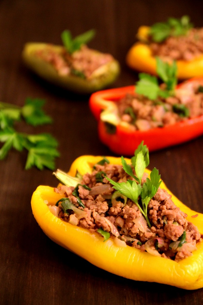 Beef & Onion Stuffed Peppers6