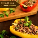 Beef & Onion Stuffed Bell Peppers