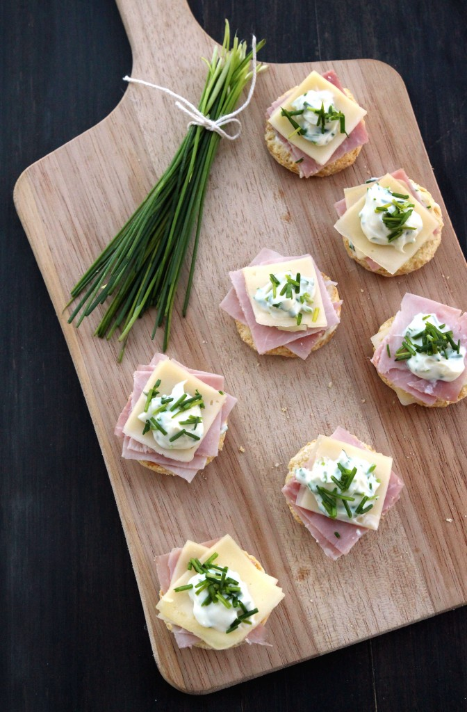 Ham, Cheese & Chives Topped Scones6