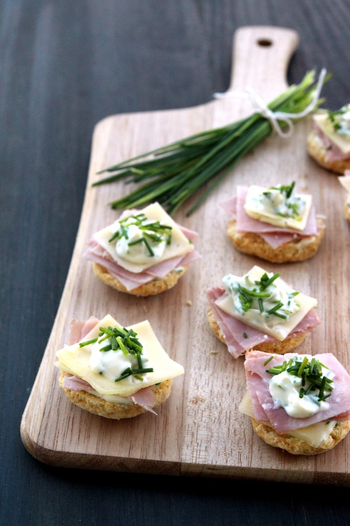 Ham, Cheese & Chives Topped Scones9