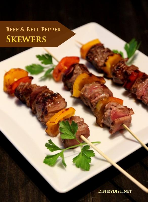 Beef & Bell Pepper Skewers