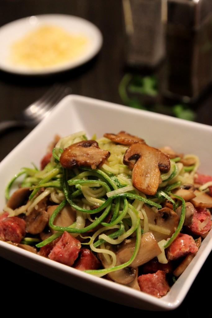 Mushroom & Sausage Zucchini Noodles5