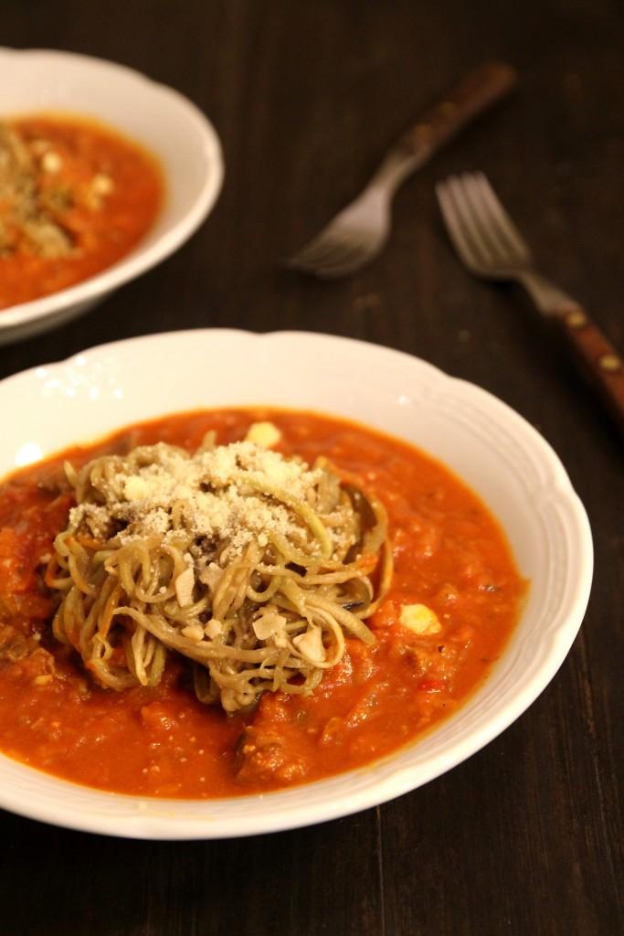 Eggplant Spaghetti Bolognaise3