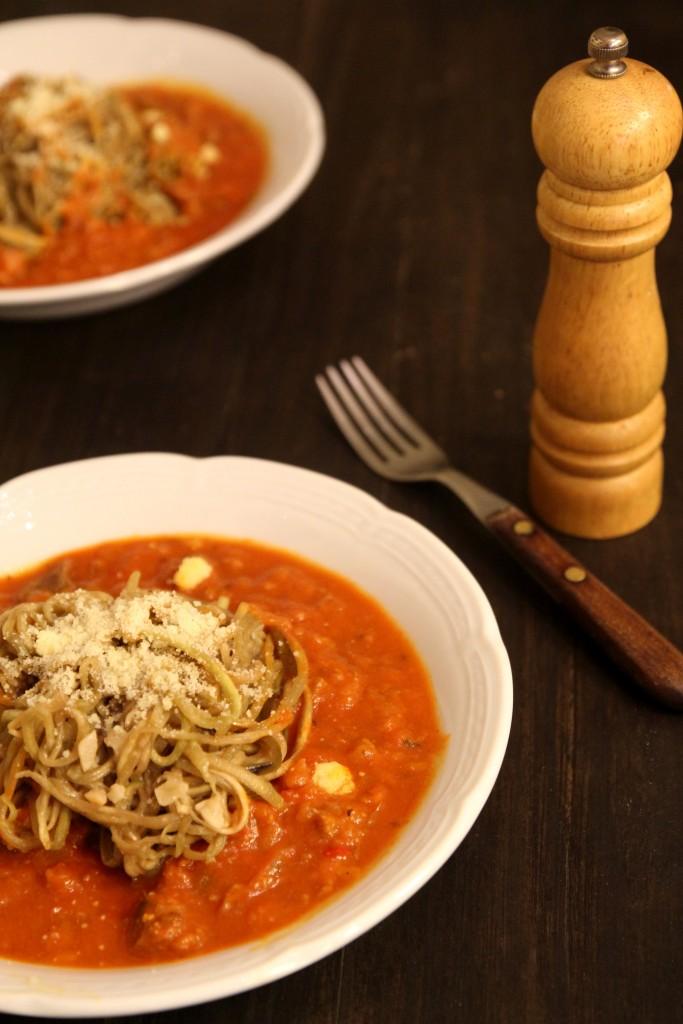 Eggplant Spaghetti Bolognaise4